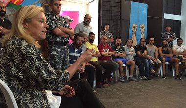 SCL Kaag attends drama therapy session at Roumieh prison