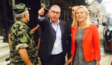 SCL Sigrid Kaag visits Palestine refugee camp of Ein El-Hilweh (30 08 16)