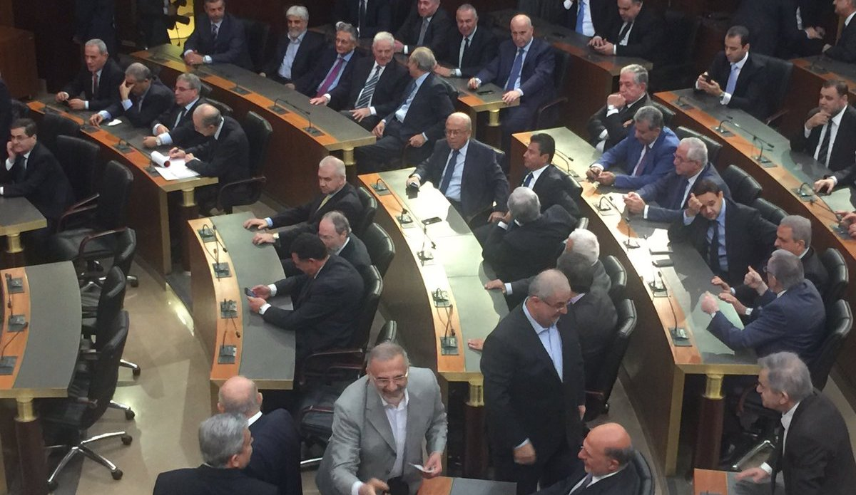 Lebanon Parliament voting for Michel Aoun as President (31 October 2016)