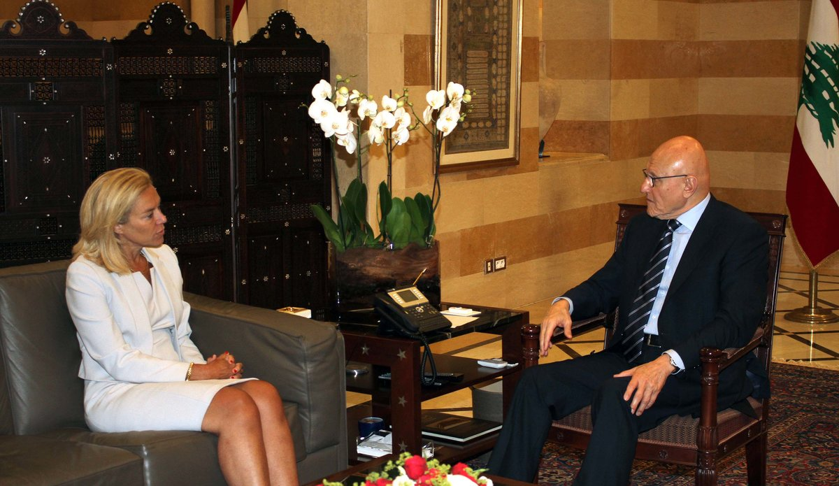 SCL Sigrid Kaag meets with Lebanon Prime Minister Tammam Salam
