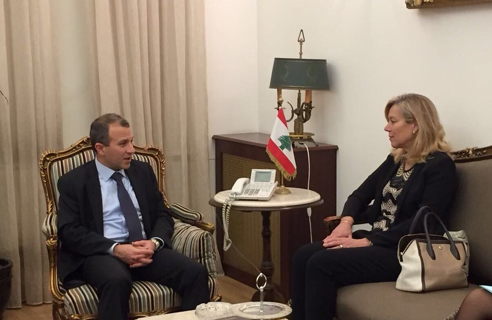 UN Special Coordinator Sigrid Kaag meets Minister of Foreign Affairs Gebran Bassil (03 03 2017)