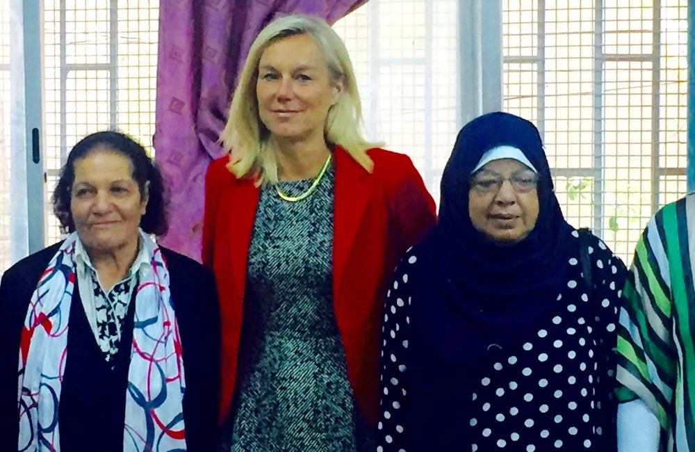 SCL Sigrid Kaag visits women's center at Ein El-Hilweh camp