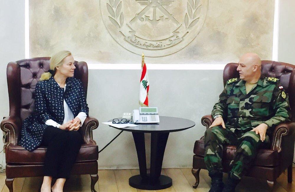 UN Special Coordinator Sigrid Kaag meets LAF Gen. Aoun (23 03 17)