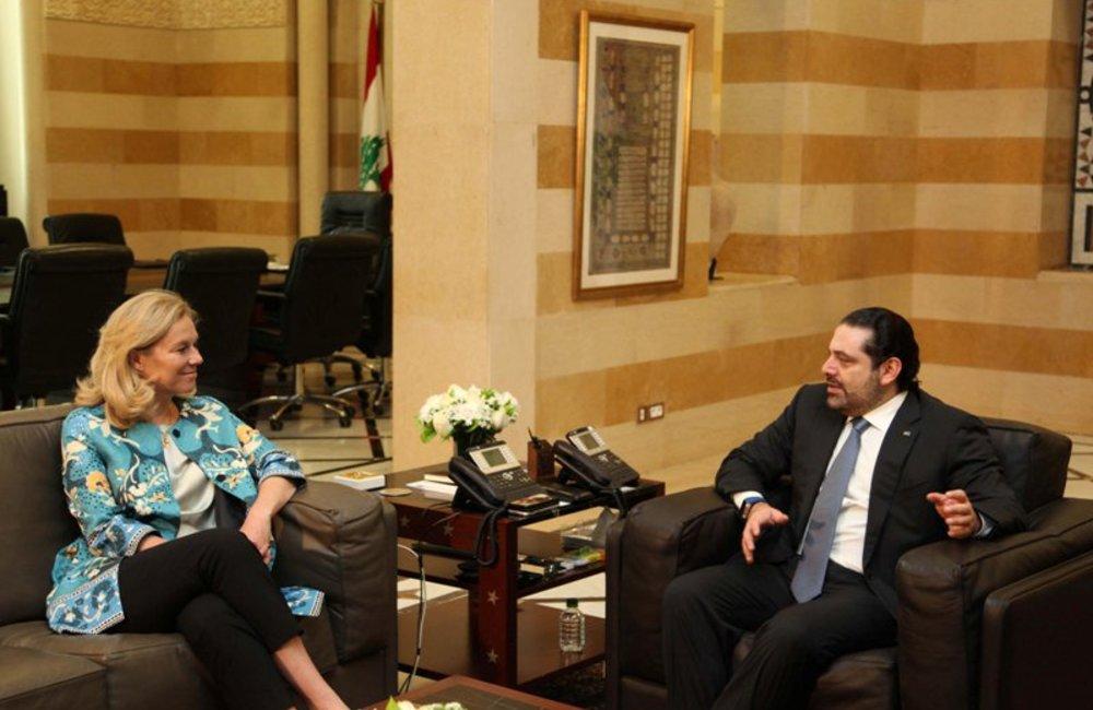 UN Special Coordinator Sigrid Kaag meets Prime Minister Saad Hariri (21 02 17) - Photo by Dalati-Nohra