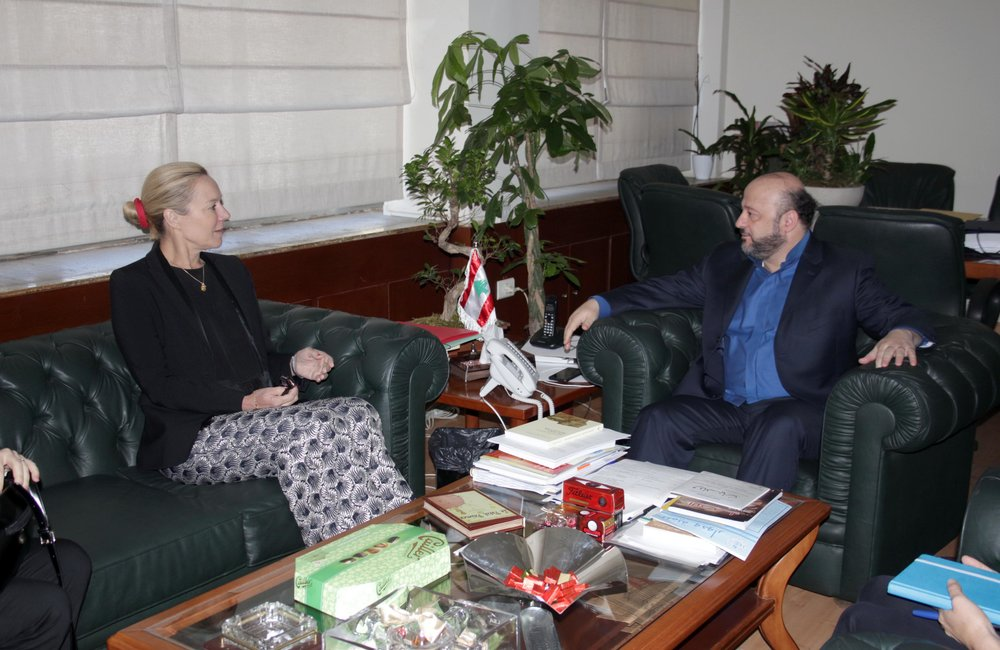 UN Special Coordinator Sigrid Kaag meets Information Minister Melhem Riachi (04 04 2017) Photo by Dalati-Nohra