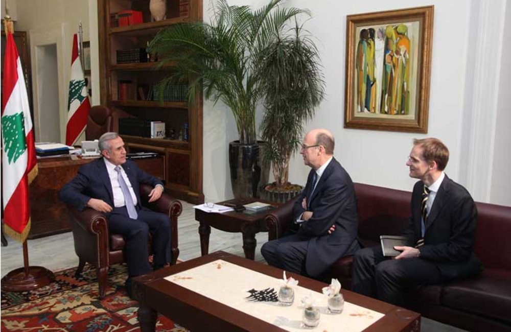 SCL Derek Plumbly First Meeting with President Michel Sleiman after taking over responsibilities (08 02 12)-Photo DalatiandNohra