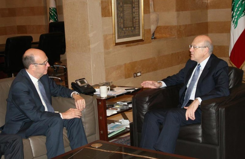 SCL Derek Plumbly First Meeting with Prime Minister Najib Mikati at the Grand Serail (08 02 12)-Photo DalatiandNohra