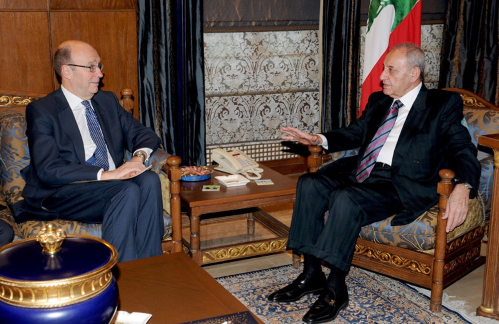 SCL Derek Plumbly First Meeting with Speaker Nabih Berri (08 02 12)