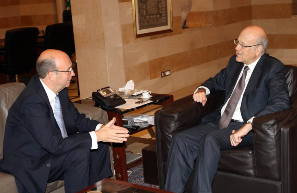 SCL Derek Plumbly Meets Prime Minister Najib Mikati at Grand Serail (04 09 12) Photo DalatiandNohra