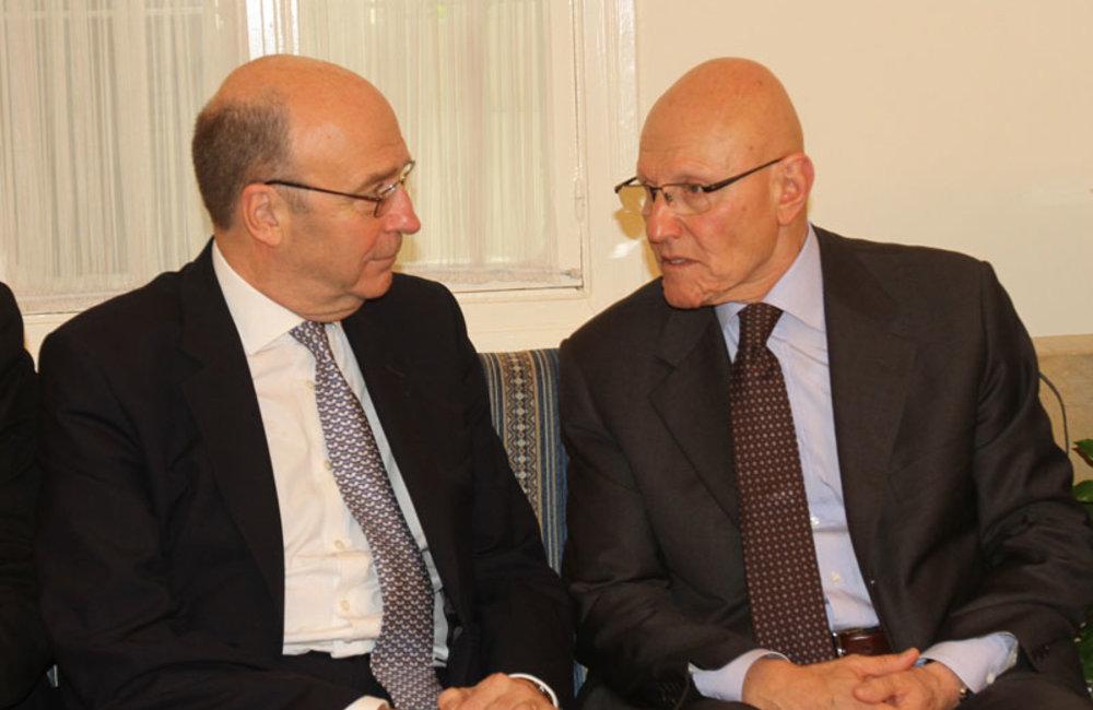 SCL Derek Plumbly meets Prime Minister-designate Tamam Salam (08 04 13) -Photo DalatiandNohra