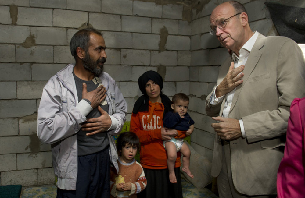 SCL Plumbly meets wth Syrian Refugee Family in Arsal (September 2012)