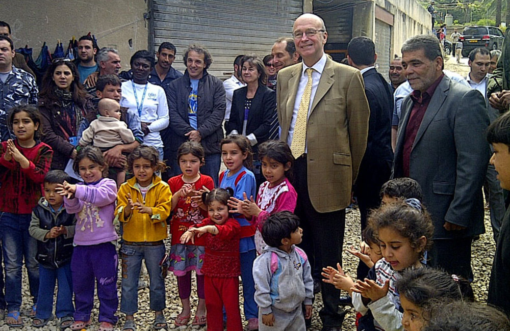 SCL Plumbly meets Syrian refugee families at collective shelter in south Lebanon (09 04 13)
