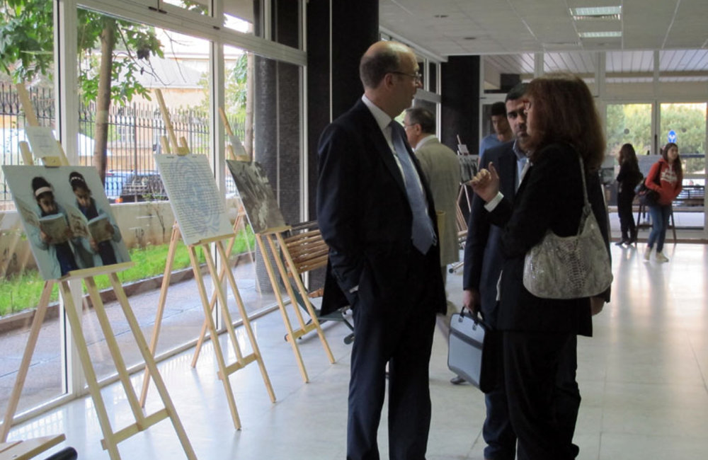 SCL Plumbly inaugurates UN Photo Exhibition at Universite Saint Joseph in Beirut