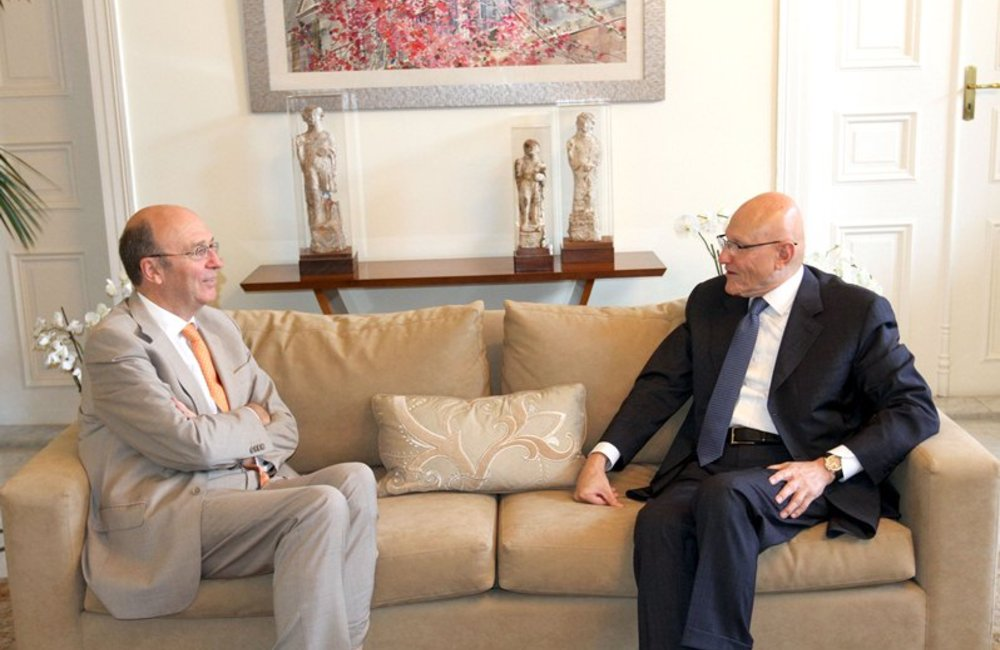 SCL Derek Plumbly Meets With P.M. Designate Tammam Salam (13 06 13) - Dalati and nohra