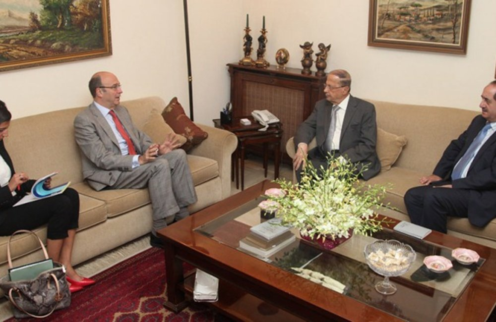 SCL Derek Plumbly Meets with Free Patriotic Movement Leader MP Michel Aoun (14 06 13) - photo tayyar.org