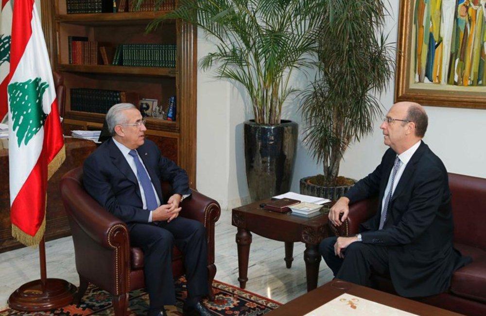 SCL Derek Plumbly Meets Lebanese President Michel Sleiman at Baabda Palace (18 06 13) - dalati and nohra