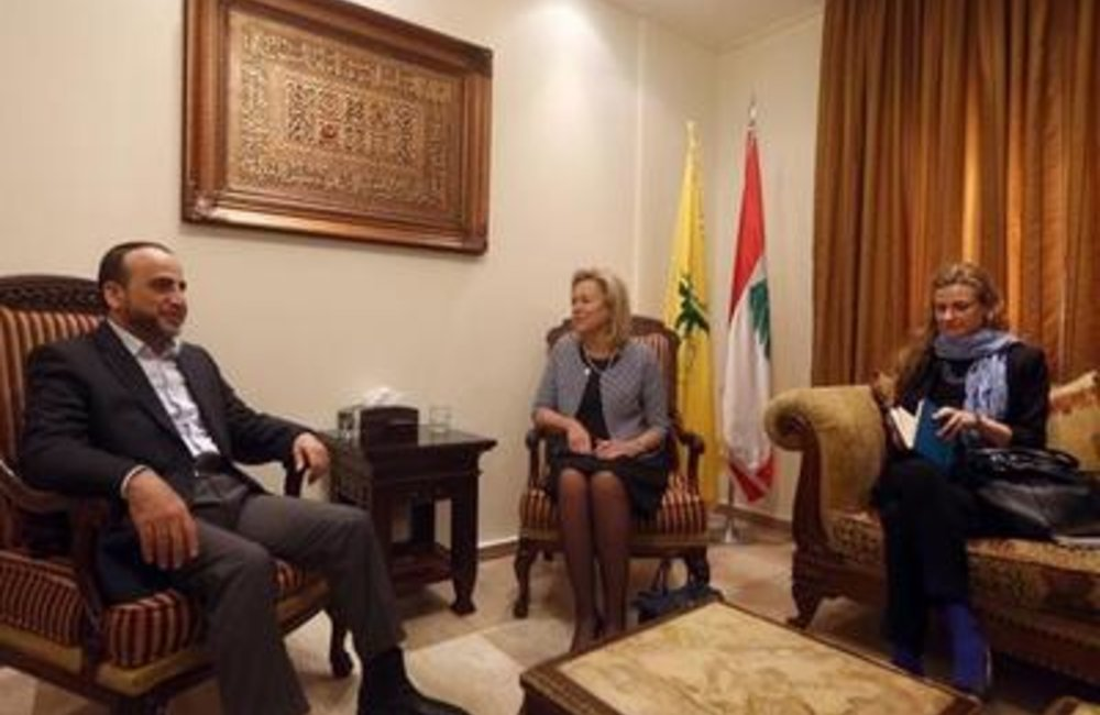 Special Coordinator for Lebanon Sigrid Kaag meets Hezbollah's international relations officer Ammar Musawi. (23- 01- 2015)
