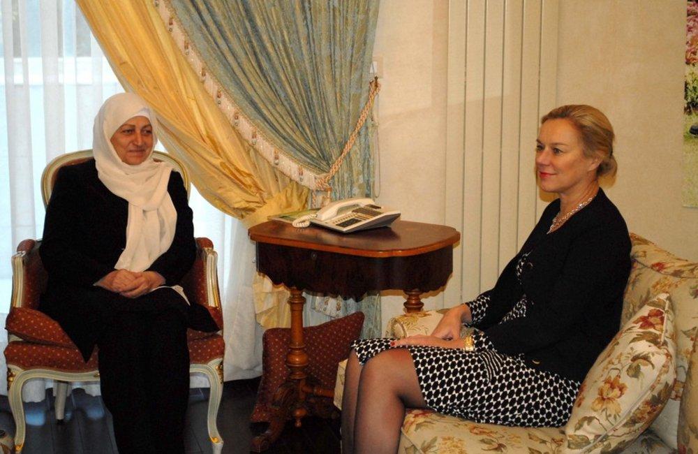 Special Coordinator for Lebanon Sigrid Kaag meets PM Bahia Hariri in Majdalyoun (29-01-2015)
