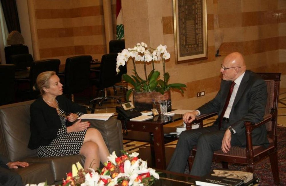 PM Tamam Salam meets Special Coordinator for Lebanon Sigrid Kaag (29-01-2015)