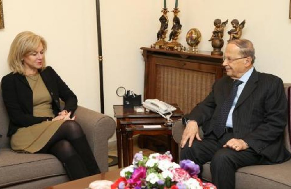 Special Coordinator for Lebanon Sigrid Kaag pays Aoun acquaintance visit(30-01-2015)