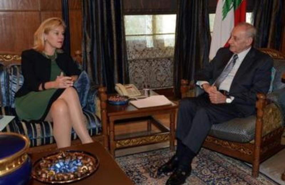 SCL Sigrid Kaag meets with  Speaker of the House Nabih Berri(02 02 15)