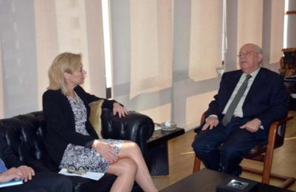 Social Affairs Minister Rashid Derbas meets SCL Sigrid Kaag(16 02 2015)