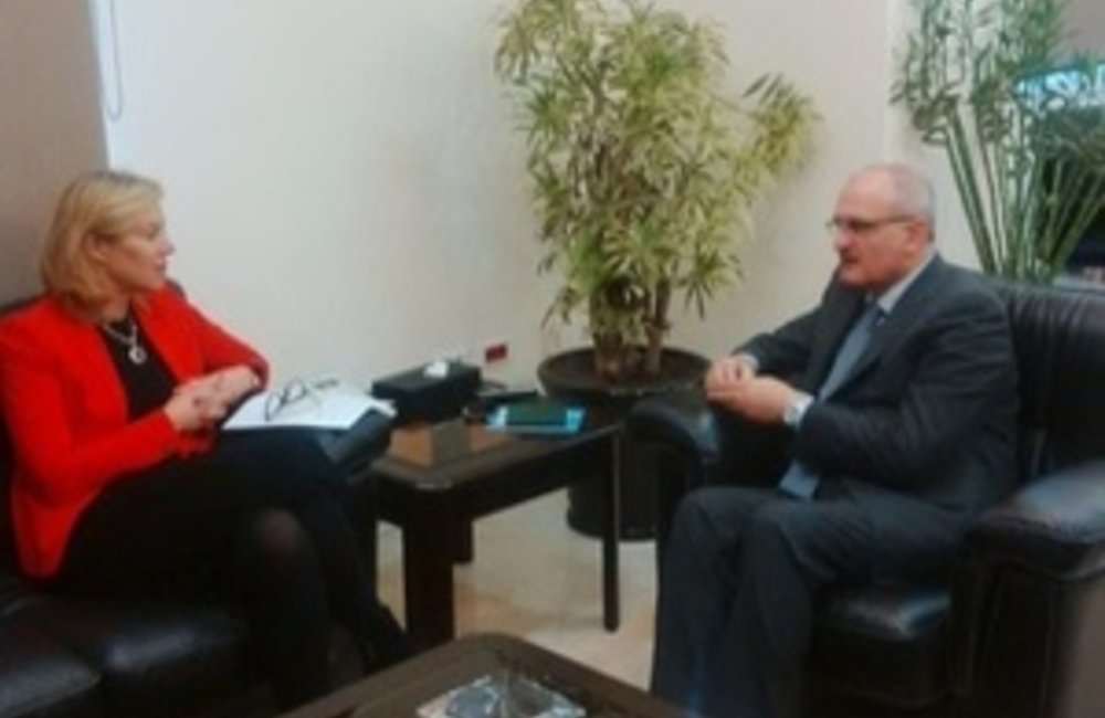 SCL Sigrid Kaag meets Lebanon Minister of Finance Ali Hassan Khalil(24 02 15)