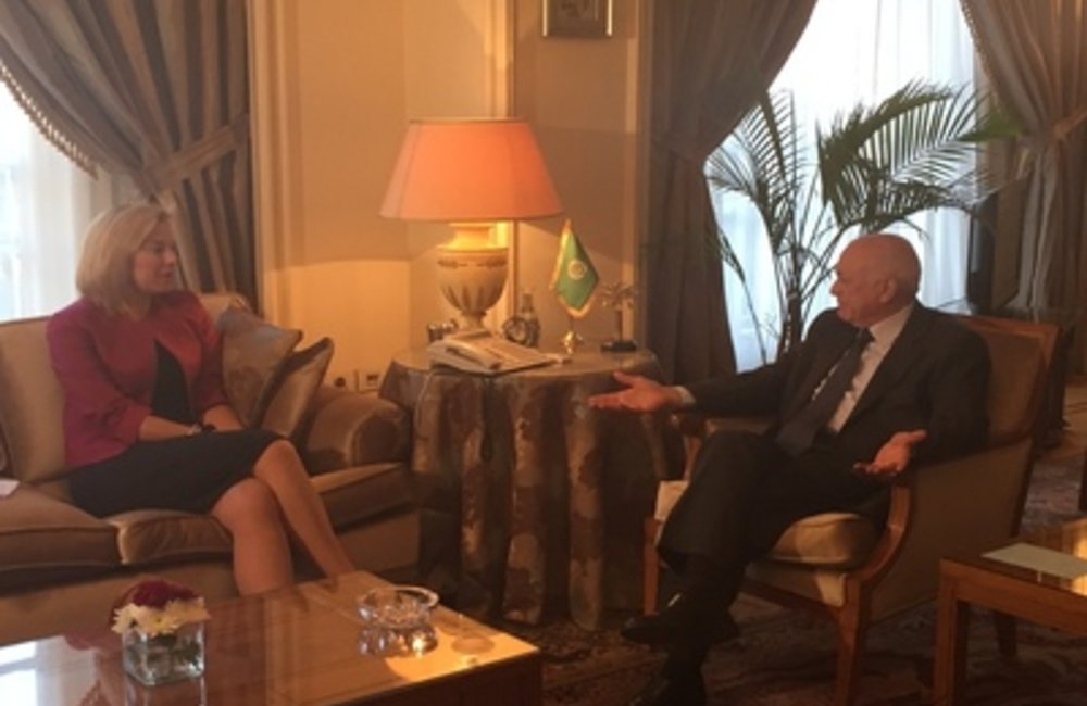 U.N. Special Coordinator Sigrid Kaag meets Arab League Secretary-General-Cairo (01 03 15)