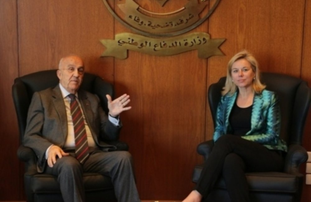 United Nations Special Coordinator for Lebanon Sigrid Kaag meets with Defense Minister Samir Moqbel (04 03 15)