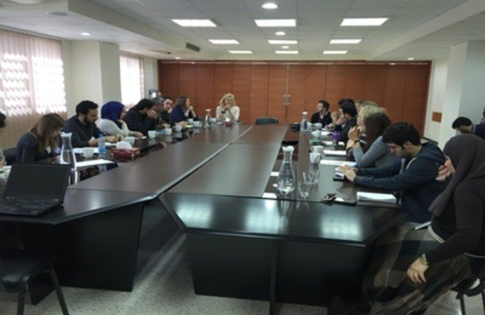 U.N. Special Coordinator Sigrid Kaag with UN team (09 03 15)