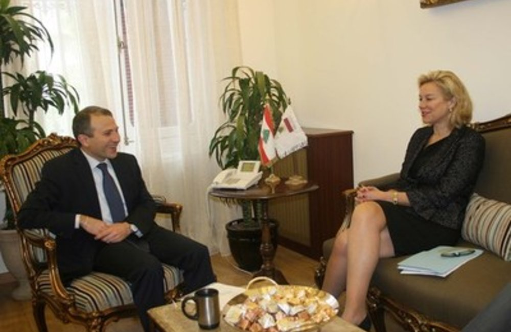 U.N. Special Coordinator Sigrid Kaag with Foreign Affairs Minister, Jibran Bassil (11 03 15)