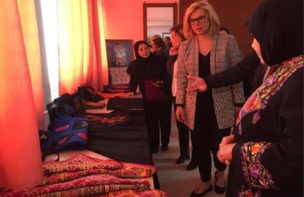 U.N. Special Coordinator Sigrid Kaag visiting refugee camp in Ein El-Hilweh(31 03 15)