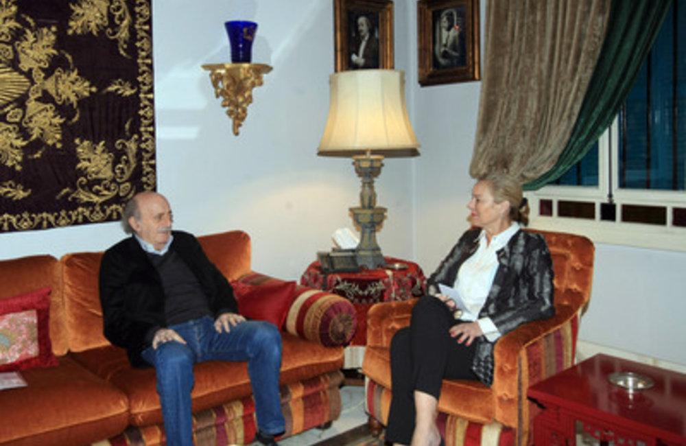 U.N. Special Coordinator Sigrid Kaag visiting Walid Jumblat in Clemenceau (01 04 15)