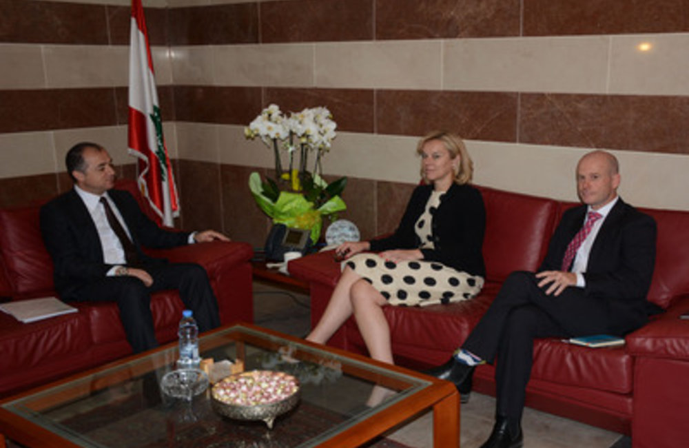 U.N. Special Coordinator Sigrid Kaag meets Minister Elias Bou Saab (09 04 15)