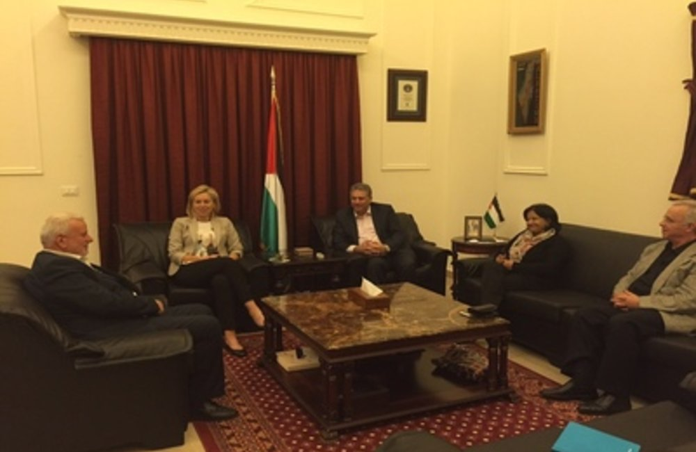 U.N. Special Coordinator Sigrid Kaag meets Palestine Ambassador Asharf Dabbour (24 04 15)