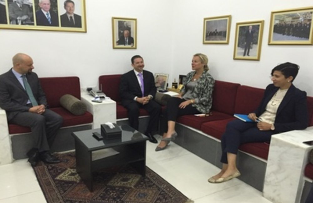 UN Special Coordinator for Lebanon Sigrid Kaag with former minister Faisal Karameh (12 05 2015)