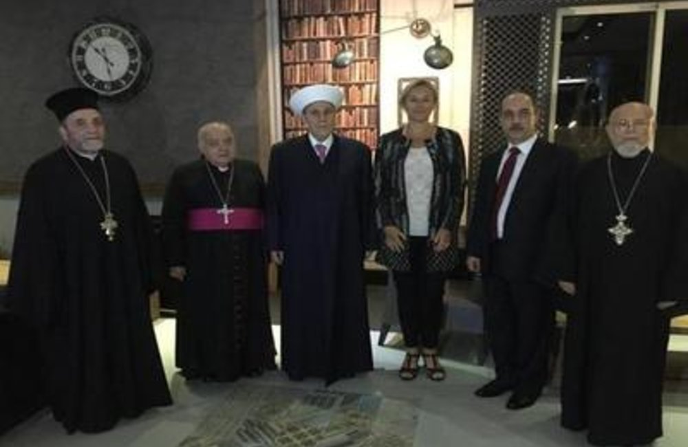 UN Special Coordinator for Lebanon Sigrid Kaag with religious leaders in Tripoli(12 05 2015)