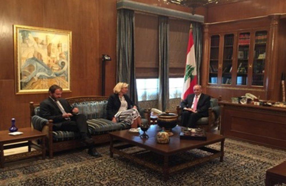 U.N. Special Coordinator Sigrid Kaag meets Speaker Nabih Berri (17 06 2015)
