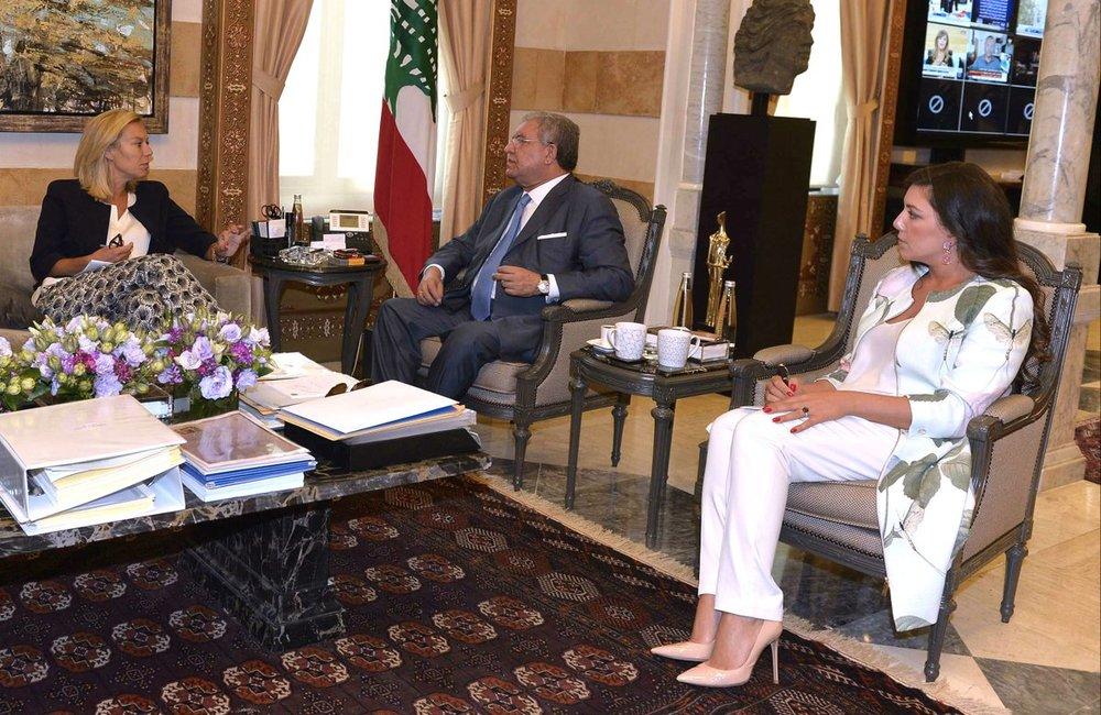 Special Coordinator Kaag Meets Interior Minister Nohad Mashnouk