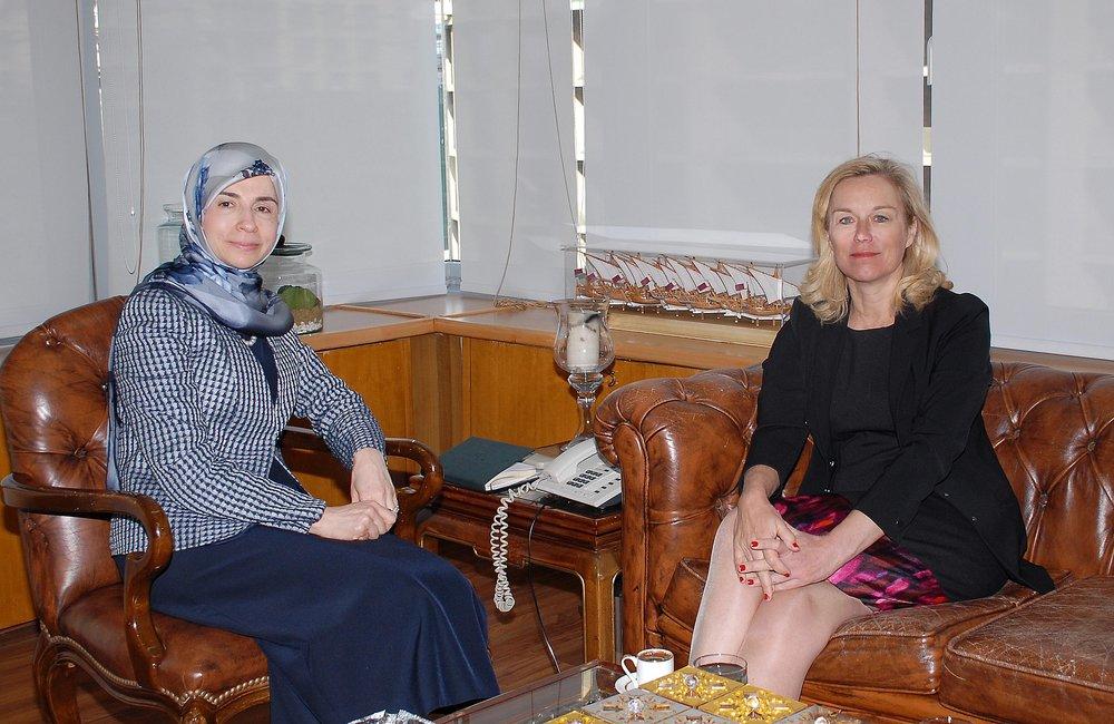 UN Special Coordinator Sigrid Kaag meets Minister of Administrative Reform Inaya Ezzedine (17 01 17)-Photo by Dalati-Nohra