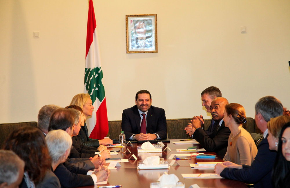 UN Country Team in Lebanon meets Prime Minister Saad Hariri (16 01 17)-Photo by Dalati-Nohra