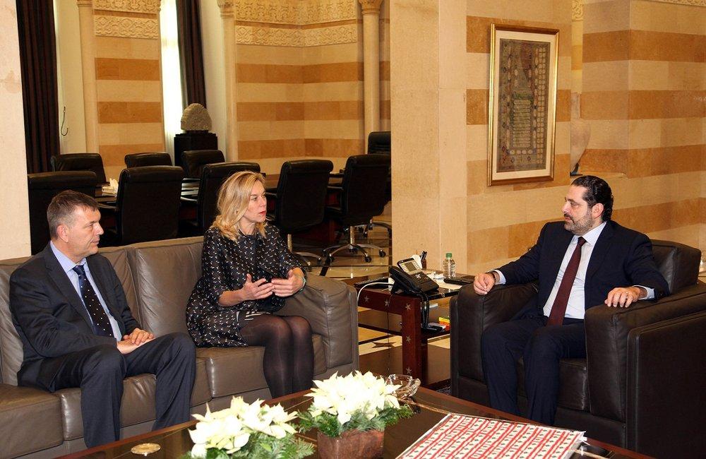 UN Special Coordinator Sigrid Kaag meets Prime Minister Saad Hariri (22 12 2016)