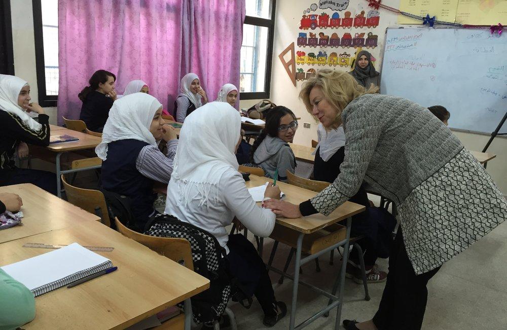 SCL Kaag visits UNRWA school in Ein El-Hilweh Palestine Refuge Camp (31 03 15)