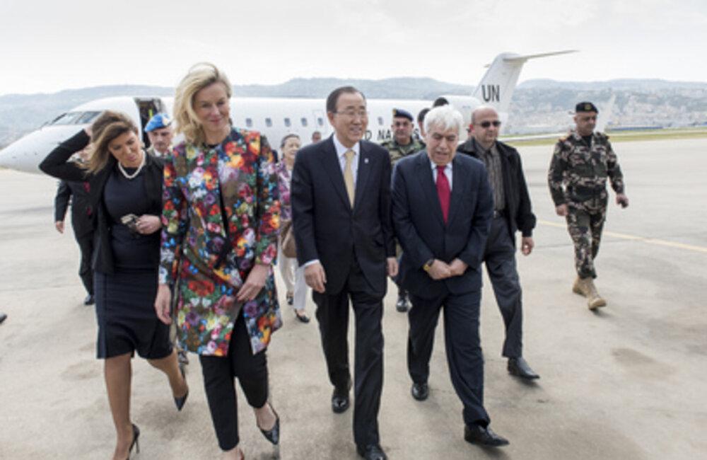 Secretary-General Ban Ki Moon visits Lebanon (March 2016)