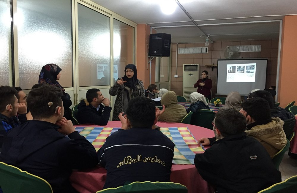 UNSCOL briefing at Al-Hadi school (11 01 17)