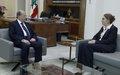 Acting UN Special Coordinator Pernille Kardel Meets Lebanon President Michel Aoun
