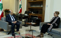 Remarks of Acting UN Special Coordinator Pernille Kardel after Meeting President Michel Aoun