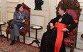 DSCL Najat Rochdi Meets Maronite Patriarch Bechara Boutros El-Rahi