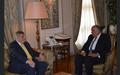 UN Special Coordinator for Lebanon Jan Kubis Visits Cairo