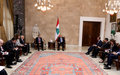 Ambassadors of P5, EU, LAS and UN Meet President Michel Aoun